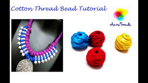 beading cord necklace images How to make silk thread cotton thread bead for necklace and jpg