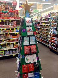 gift card display gift card display christmas tree design at rite aid 2014 flickr