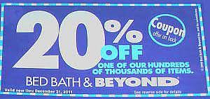 Bed Bath And Beyond 20 Percent Off Coupon Finding And Using Coupons At Bed Bath And Beyond Infobarrel
