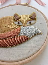 Fox Home Decor Metalwork Fox Embroidery Looks Like Bo Gorgeous For The Home