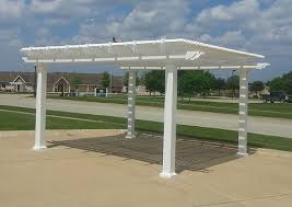 White Vinyl Pergola Kits by Freestanding 10 U0027 X 10 U0027 Pergola With 75 Shade And 7