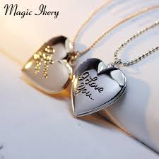 gold necklace with letter images Fashion valentine 39 s day gift high quality gold silver plated heart jpg