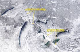 Up Michigan Map Stunning Image From Space Shows Great Lakes Working Together To