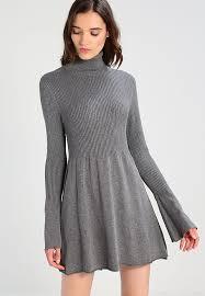 vero moda vmnorwalk glory short dress jumper dress medium grey