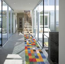 Yellow And Grey Runner Rug Modern Runner Rugs Impressive Contemporary For Hallway