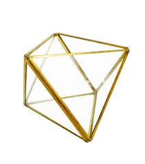 geometric metal u0026 glass terrarium by bloom room joann