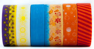 delicate 6 rolls of colorful washi tape masking decorative paper