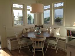 round breakfast nook table breakfast nook square booth round table