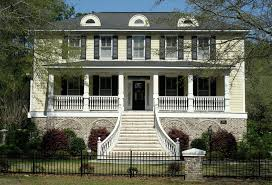 plantation style house pale yellow plantation style house with a grand balustrade flickr