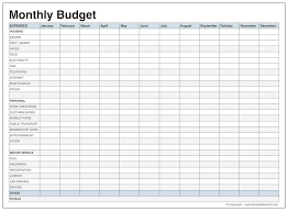 monthly budget template monthly budget download a free personal