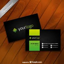 business card logos business card template with logo vector free