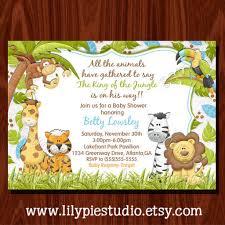 baby shower invitations jungle theme dancemomsinfo com