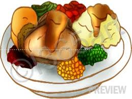 thanksgiving dinner plate clipart clipartxtras