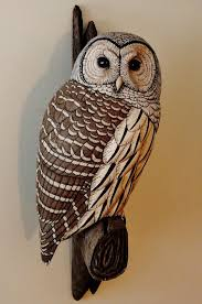 owl wood carving sized barred owl carving artwork by tim mceachern owls