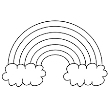 Coloring Page Of A Rainbow rainbow coloring pages free printables momjunction