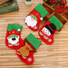 new years socks new year mini christmas socks santa claus candy gift bag