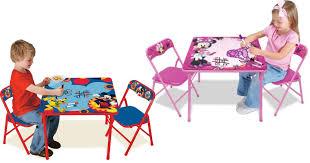 minnie mouse table set walmart disney character erasable kids activity table sets 16 99