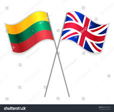 Flag Of Lithuania Picture Lithuanian British Crossed Flags Lithuania Combined Stock Vector
