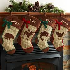 personalized rustic woodland christmas stocking available in