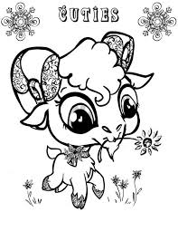 goat mask coloring page cute big eyed goat coloring pages color luna