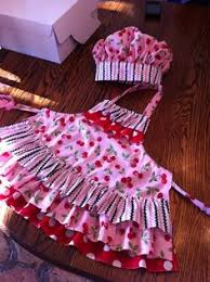 childrens apron in bunny tea dress ups