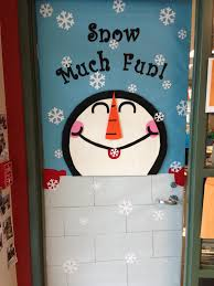 winter classroom door this one was easier than last year u0027s