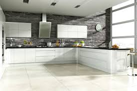 gloss kitchen tile ideas linear handleless white hi gloss kitchen fitted kitchens betta
