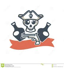 Whiskey Flag Jolly Roger Pirate Vector Icon Flag Skull And Whiskey Bottle Stock