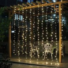 decorative 9 8ft 9 8ft 300 leds window curtain lights warm white
