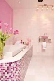 glass tile bathroom remodeling on a budget susan jablon blog pink raspberry glitter and white glass tile design