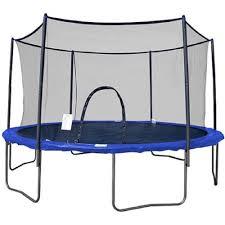 airzone 12 u0027 trampoline combo blue box 1 of 2 walmart com