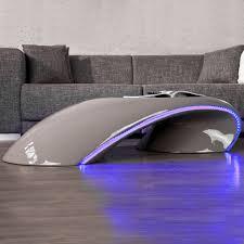 designer beleuchtung designer couchtisch futura grau hochglanz led beleuchtung blau