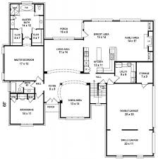 5 bedroom 3 bathroom house plans floor plan semi level house small bedroom suites photos master