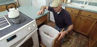 installing pull out drawers in kitchen cabinets how to build a pullout trash bin for your kitchen today s homeowner
