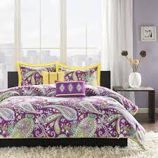 Teen Comforter Set Full Queen by New Bed Bag Twin Xl Full Queen 5 Pc Purple Yellow White Paisley