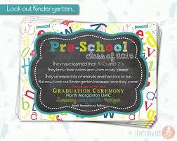pre graduation invitation pre k class graduation