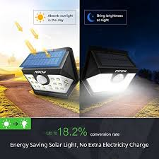 wireless security lights outdoor mpow solar lights outdoor 20 led motion sensor lights with wide
