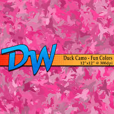 duck camouflage camo fun colors digital paper deal on 12