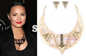 demi lovato earrings necklace sets