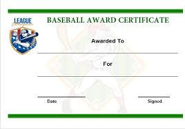 baseball award certificate template word baseball certificate