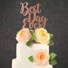 gold wedding cake toppers wedding cake topper best day gold wedding cake