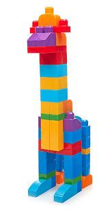 amazon com mega bloks 80 piece big building bag classic toys