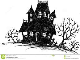 haunted house sketch stock vector image 41303639