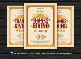 thanksgiving flyer invitation flyer templates creative market