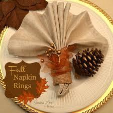 fall napkin rings napkin rings thanksgiving table and napkins