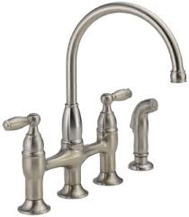 two handle kitchen faucet delta 21966lf ss dennison two handle kitchen faucet review