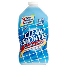 Clean Soap Scum From Shower Door by Clean Shower Daily Shower Cleaner Refill 60 Fl Oz Walmart Com