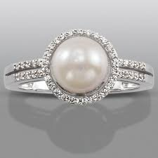 engagement rings sears pearl lab created white sapphire ring sears pearls i would