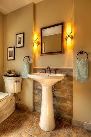 Powder Room With Pedestal Sink Milwaukee Modern Pedestal Sink Powder Room Traditional With Kohler