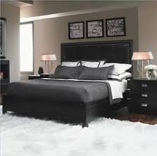 black and white modern bedrooms love this idea mirrors behind the ls add light around the room